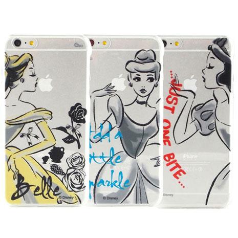 Disney iPhone 6s Plus/6 Plus 彩繪公主系列透明保護硬殼-水墨風