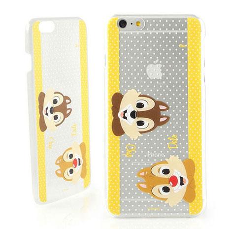 Disney iPhone 6s Plus/6 Plus 彩繪可愛風透明保護硬殼-大頭奇奇蒂蒂