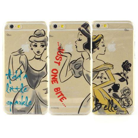 Disney iPhone 6s/6 彩繪公主系列透明保護硬殼-水墨風