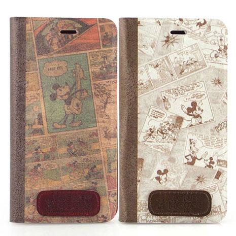 Disney iPhone 6s Plus/6 Plus 時尚復古漫畫風隱磁側掀皮套