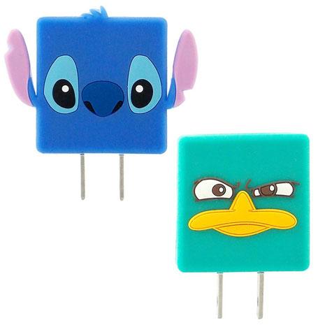 Disney 可愛造型充電轉接插頭1A USB轉接頭-泰瑞/史迪奇