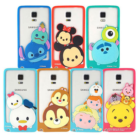 Disney Samsung Galaxy Note4 TSUM TSUM 可愛造型立體矽膠邊框軟套