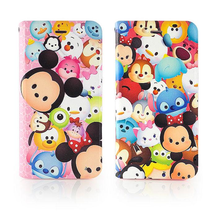 Disney iPhone6/6s Plus TSUM TSUM 時尚彩繪可立式筆記本皮套