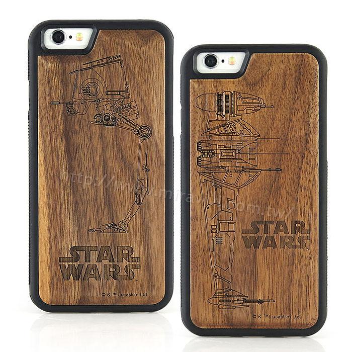 Star Wars iPhone 6s/6 星際大戰 原木/木頭雷雕保護殼/手機殼