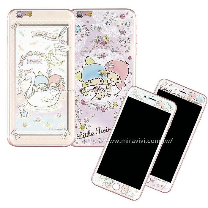 Sanrio iPhone 6s/6 雙面強化玻璃彩繪保護貼-kikilala