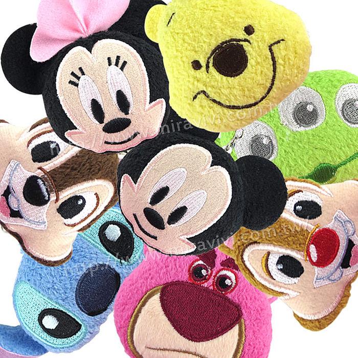 Disney 可愛絨毛沙包造型耳機防塵塞擦拭布