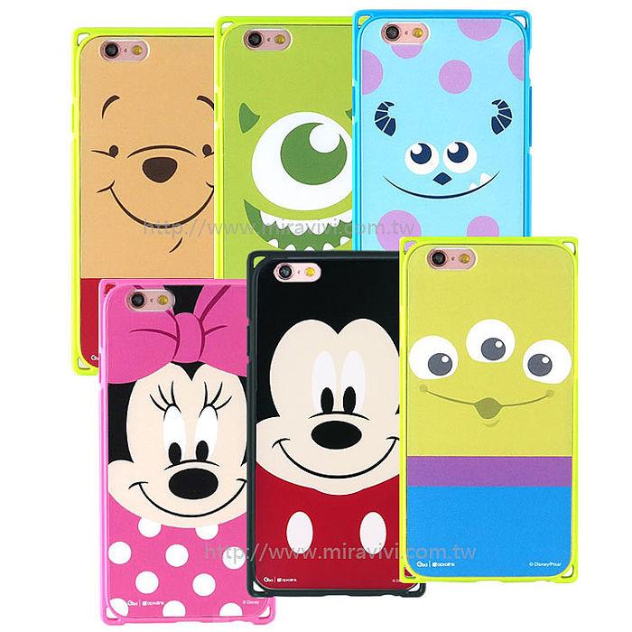 Disney iPhone 6 Plus / 6s Plus 專業耐衝擊aprolink雙料保護殼殼-大臉系列