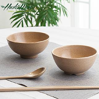 【Husk's ware】美國Husk's ware稻殼天然無毒環保餐碗筷組(6碗6筷)