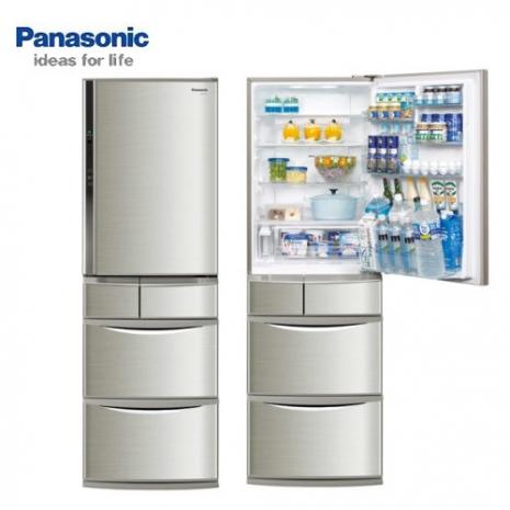 'Panasonic'☆國際 430公升日本原裝ECO NAVI變頻五門冰箱 NR-E437TX **免費基本安裝+舊機回收**