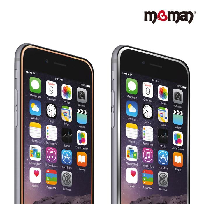MgMAN iPhone6/6s Plus (5.5寸) 9H 濺鍍邊框玻璃保護貼