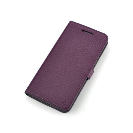 Story皮套王- New HTC One 純牛皮折疊式側翻 荔枝紋紫色現貨 03426-112