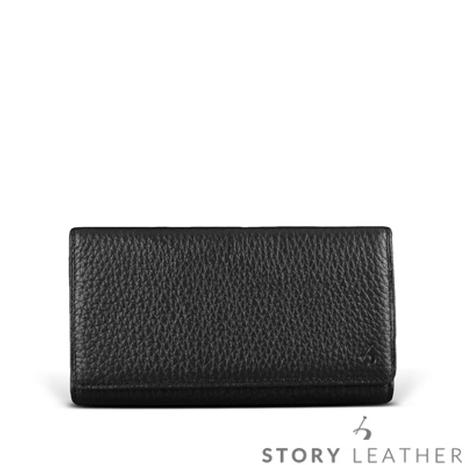 STORY皮套王 SONY Xperia Z3+ Plus 橫式腰掛 荔枝紋黑現貨皮套 06160-109