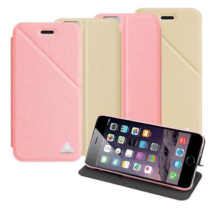 LUCCIDA Apple iphone 6 4.7吋 三角易拍隱形磁吸超薄立架皮套