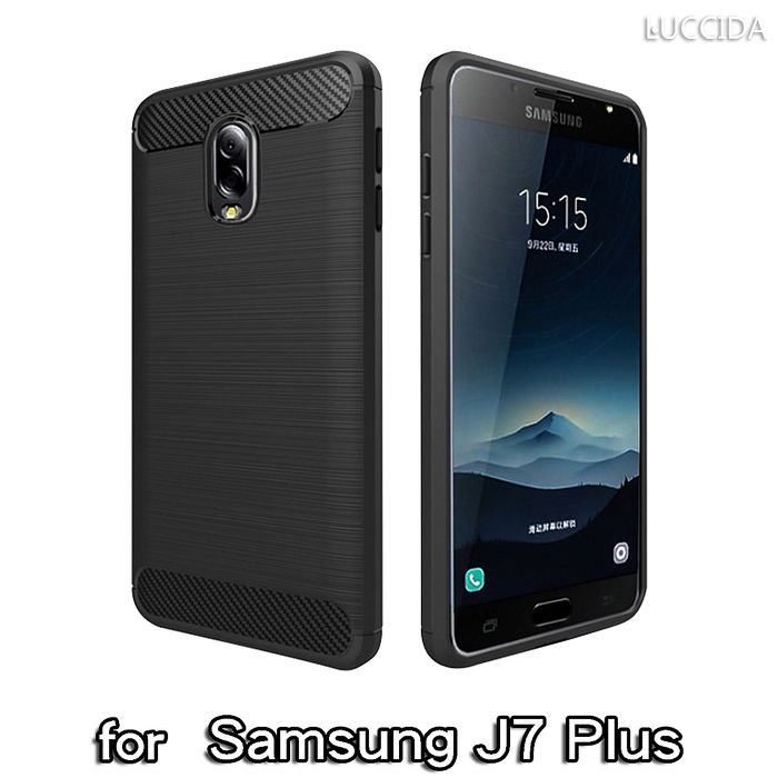 LUCCIDA Samsung Galaxy J7 Plus 時尚雙料保護殼