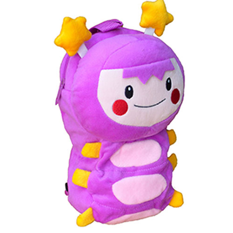【MOMO】9吋亮亮絨毛立體背包