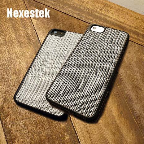 Nexestek iPhone 5/5s 日系TATAMI 防滑手編織感手機保護殼質感黑色