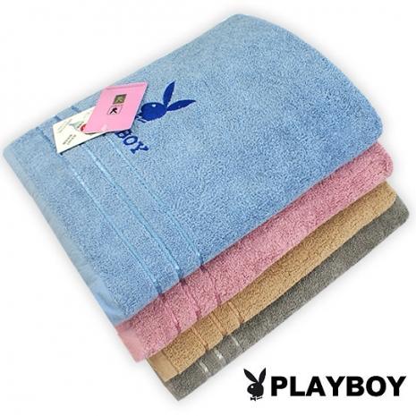 PLAYBOY刺繡緞帶純棉大浴巾(#PY03)-居家日用.傢俱寢具-myfone購物