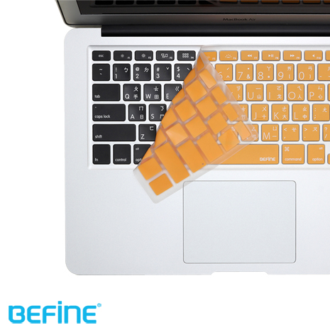 BEFINE KEYBOARD KEYSKIN 中文鍵盤保護膜(MacBook Air 13專用Lion版)-橘底白字