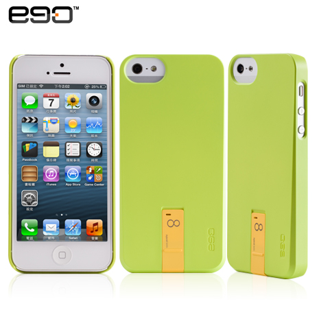 ego Hybrid USB Case iPhone 5/5S 專用隨身碟造型保護殼-綠+8G黃