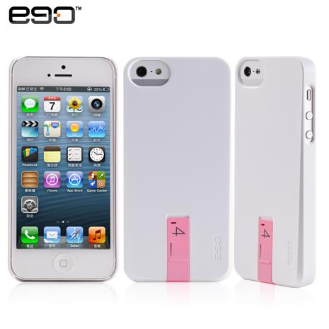 ego Hybrid USB Case iPhone 5/5S 專用隨身碟造型保護殼-白+4G粉