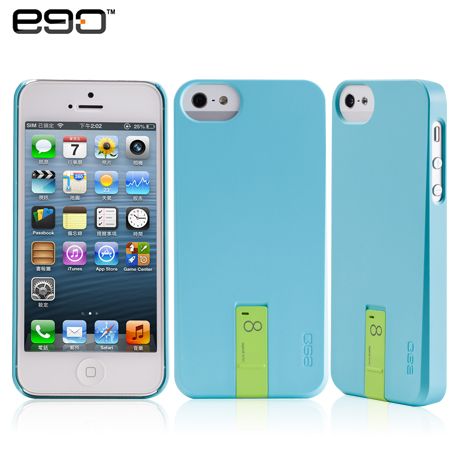 ego Hybrid USB Case iPhone 5/5S 專用隨身碟造型保護殼-藍+8G綠