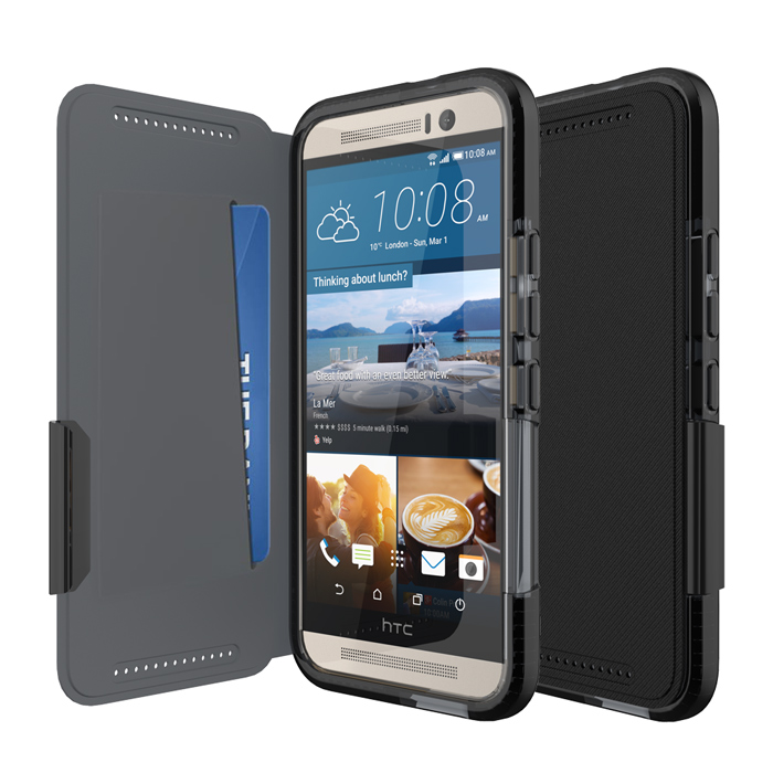 Tech21 英國超衝擊 Evo Wallet HTC One M9 防撞軟質保護皮套 - 黑