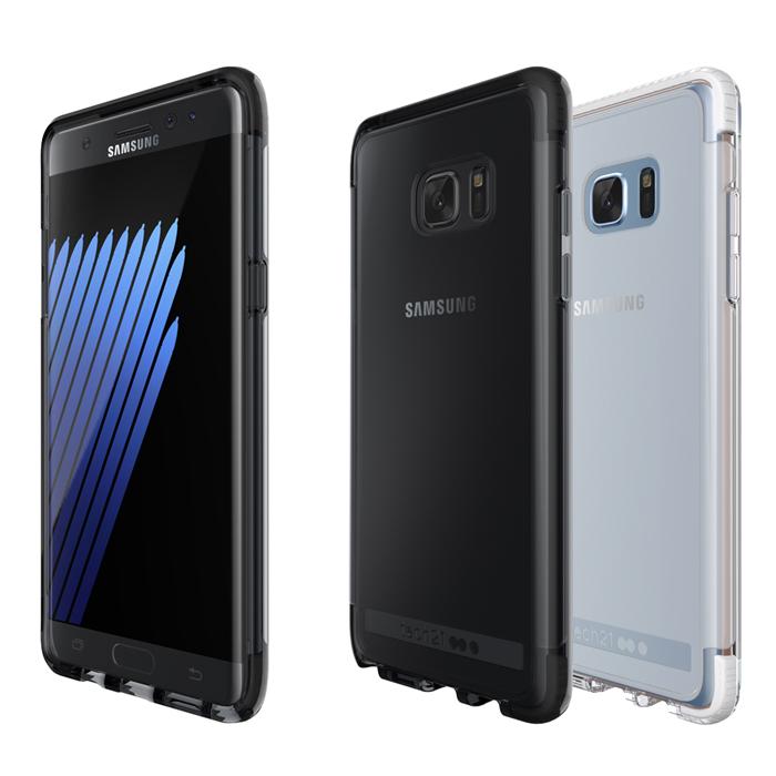 Tech21 英國超衝擊 Evo Frame Samsung Note 7 防撞硬式透明保護殼透白
