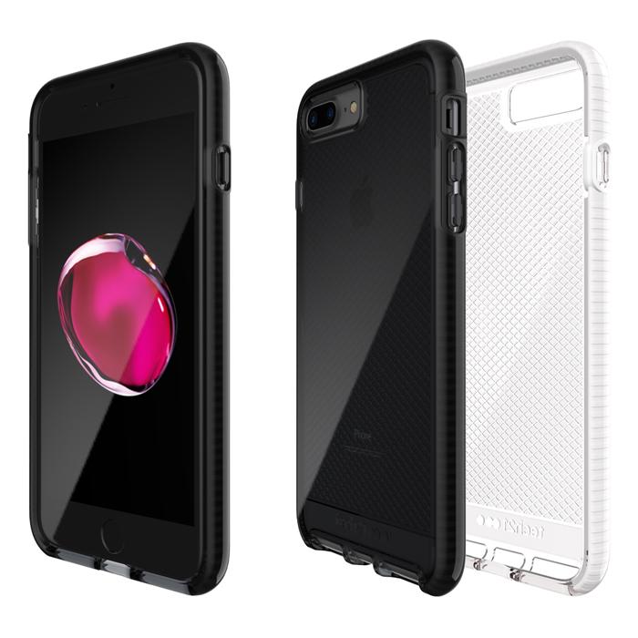 Tech21 英國超衝擊 Evo Check iPhone 7 Plus 防撞軟質格紋保護殼