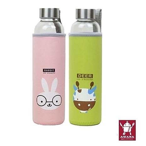 AWANA 動物耐熱玻璃杯550ml 2入組(隨機款)【特賣】