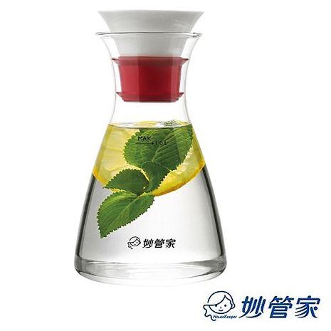 【妙管家】陶瓷玻璃壺1.0L (HKP-028B)