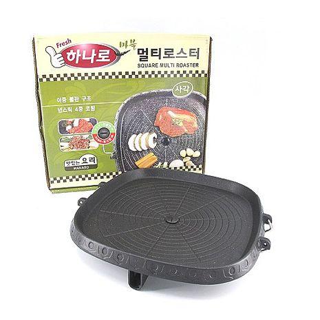 韓國HANARO 方形火烤兩用烤盤/不沾鍋烤盤32cm-APP