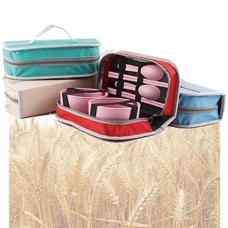 環保小麥 可外出雙人餐具包組/兒童餐具包-隨機