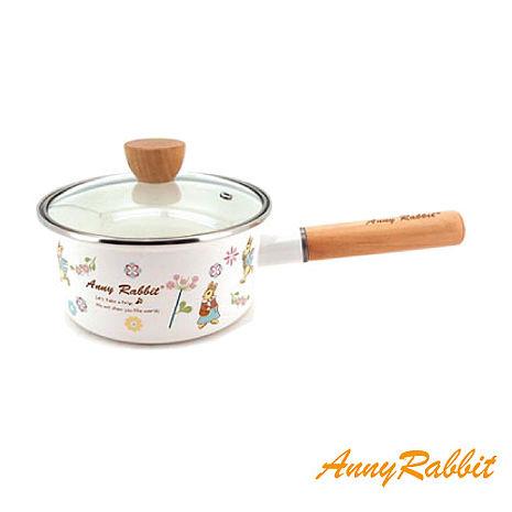 AnnyRabbit安妮兔 琺瑯單把鍋18cm