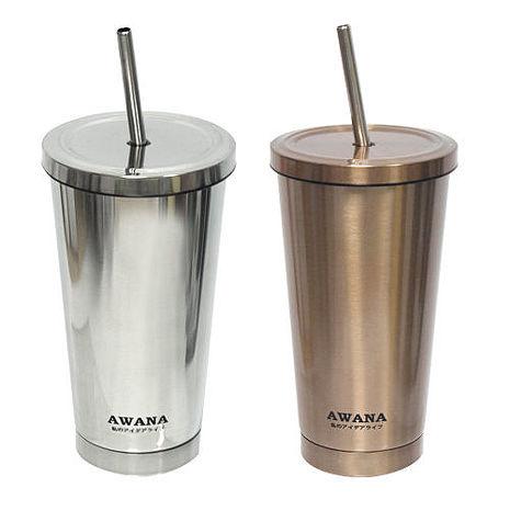 AWANA #304吸管咖啡杯500ML-兩色任選(特賣)金