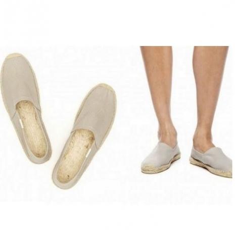 ☆限時優惠8折☆Soludos espadrilles   麻底帆布鞋 灰色基本款草編鞋 W10-服飾‧鞋包‧內著‧手錶-myfone購物