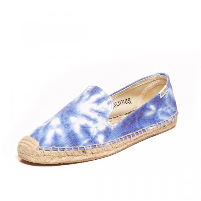 ☆限時優惠8折☆Soludos espadrilles Smoking Slipper Prints 暈染藍 麻底帆布鞋草編鞋 W9