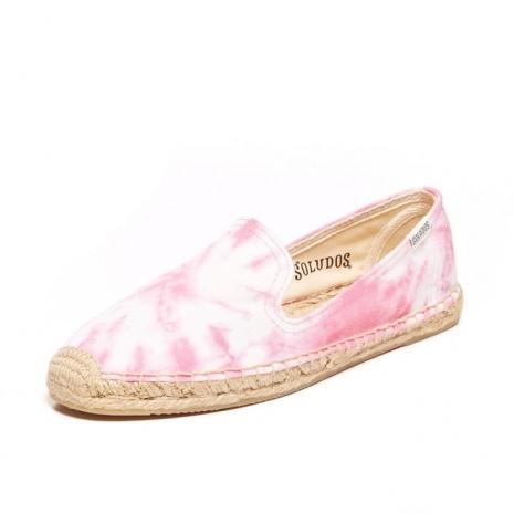 ☆限時優惠8折☆Soludos espadrilles Smoking Slipper Prints 暈染粉 麻底帆布鞋草編鞋 W9