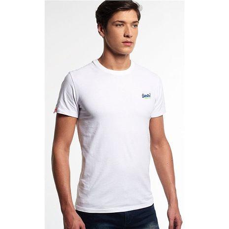 ☆限期優惠69折☆superdry 極度乾燥 men t-shirts 復古刺繡T恤(白色) 官網訂價NT1750
