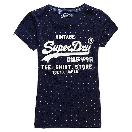 ☆限期優惠62折☆superdry 極度乾燥 女款顯瘦經典合身Shirt shop T恤 官網訂價NT2250xs