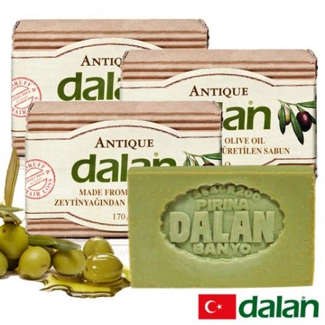 【土耳其dalan】頂級76%橄欖油傳統手工皂 3入