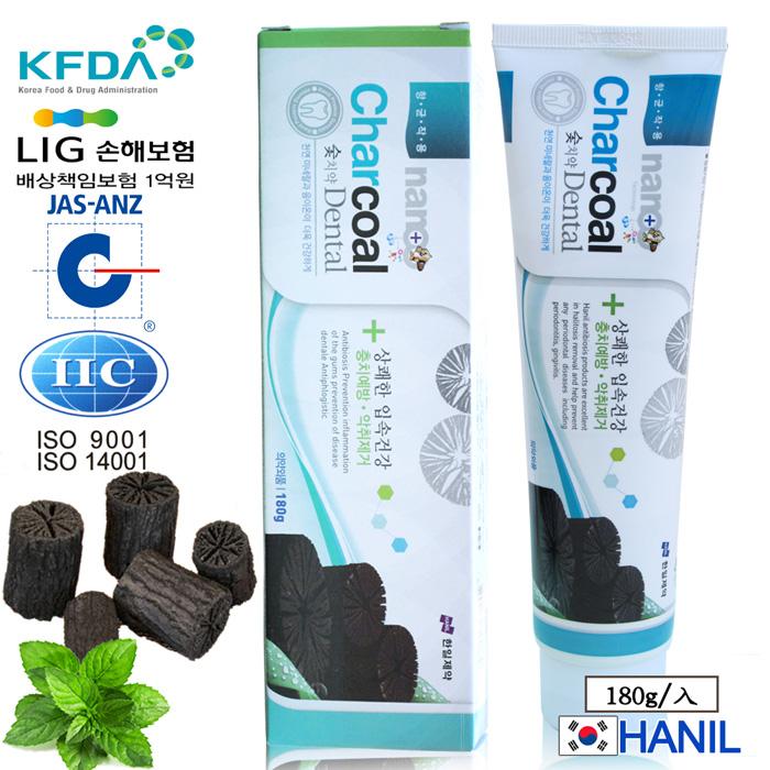 【韓一製藥】奈米竹炭固齒潔白牙膏/兒童適用180g