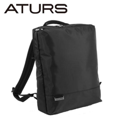 【ATURS】都會簡約 URBAN NEAT系列 15吋輕量後背包-黑色