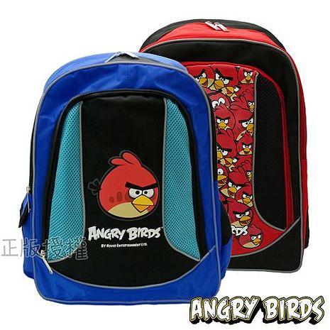 【Angry Birds憤怒鳥】反光護背三層後背書包(三款)紅色款