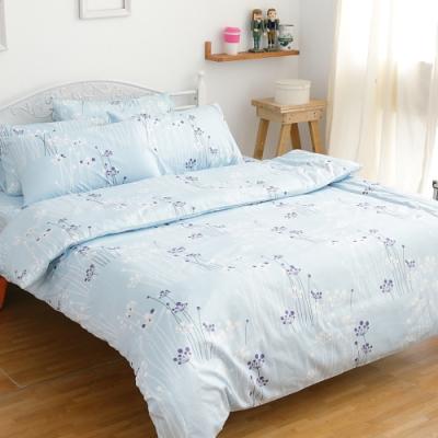 【eyah宜雅】100%精梳純單人床包二件組-夏日蔚藍