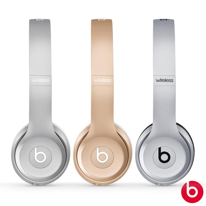 【APP】【Beats】Solo2 Wireless 無線藍牙耳罩式耳機(Apple新三色)銀