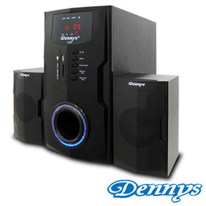 【福利品】Dennys USB/SD/FM超重低音2.1喇叭T-880