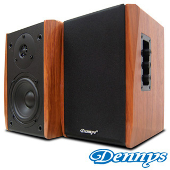 【超值限量福利品】Dennys USB/SD手工木質多媒體2.0喇叭TC-2202