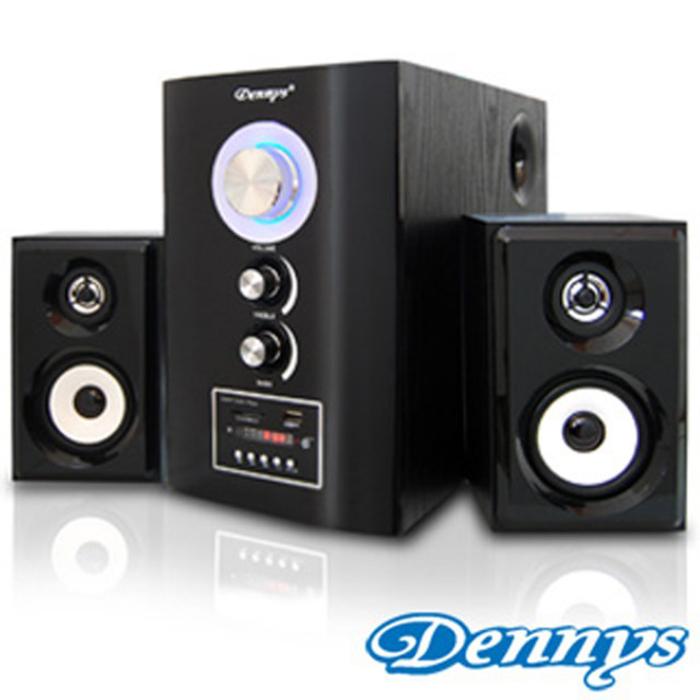 【Dennys】2.1木質USB/SD音響喇叭遙控版T-700S