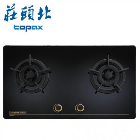 莊頭北 TG-8503GB 雙口玻璃檯面爐(黑色玻璃-天然瓦斯)