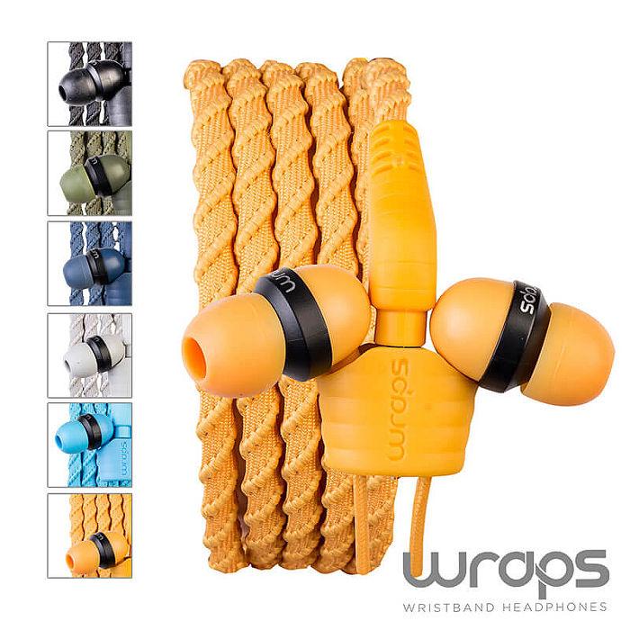 【Wraps】 Talk Wristband Headphone Coal 經典編織款手環耳機-通話版